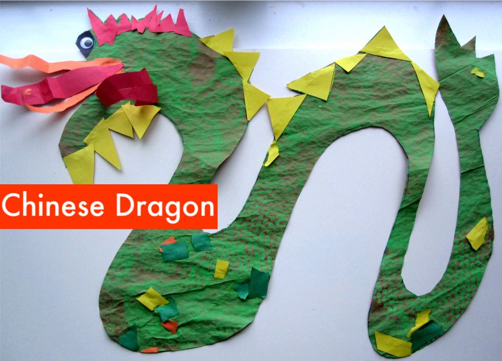 Paint & Paste Chinese Dragon-  Pinned by @PediaStaff – Please Visit http://ht.ly/63sNt for all our pediatric therapy pins