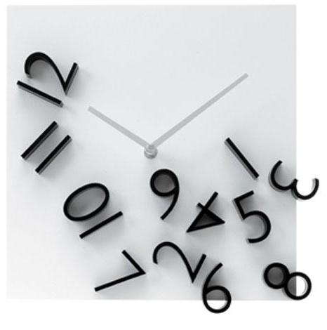 Falling Numbers Clock At Target Clock Wall Clock Wall Clock Black And White Clock