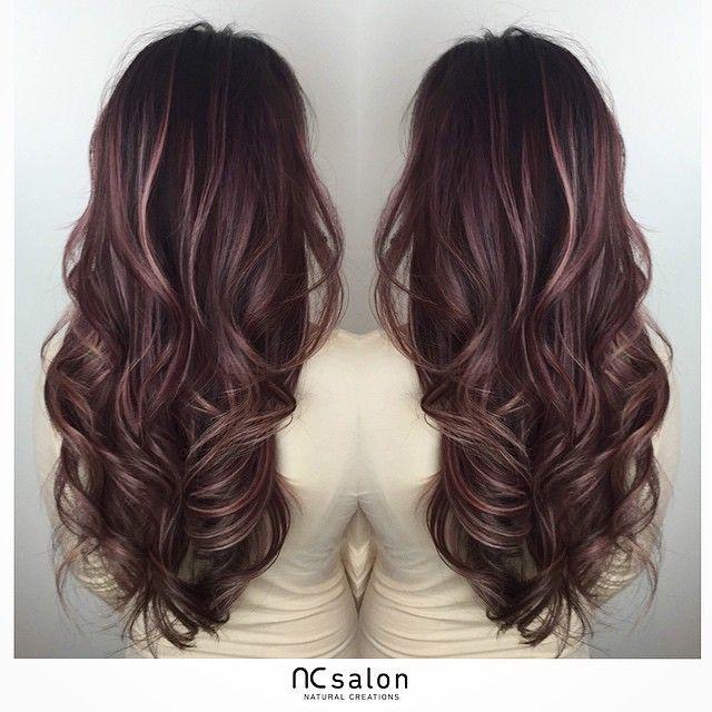 Natural Creations Hair Salon On Instagram Rose Pink Balayage Highlights Hair Highlights Balayage Hair Hair Styles