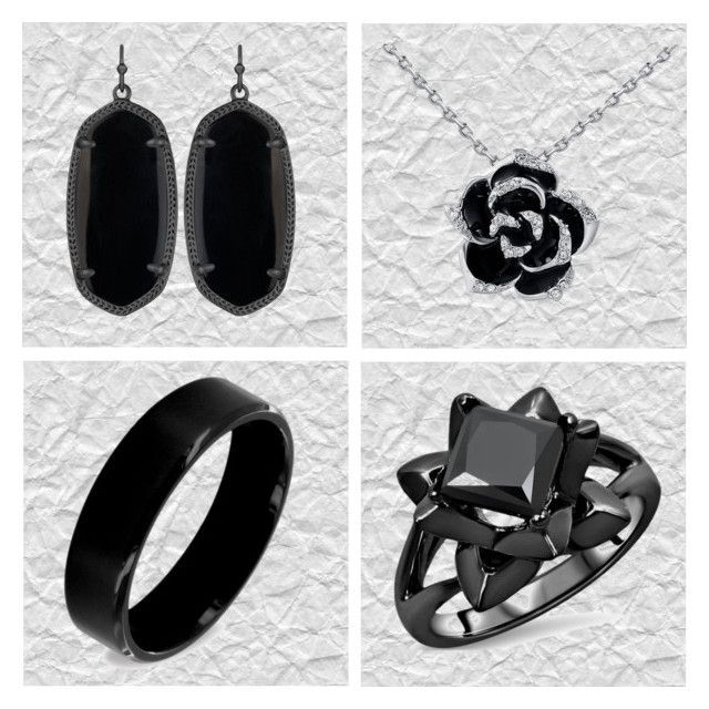 """Think in Black"" by amra-sarajlic ❤ liked on Polyvore featuring Kendra Scott and West Coast Jewelry"