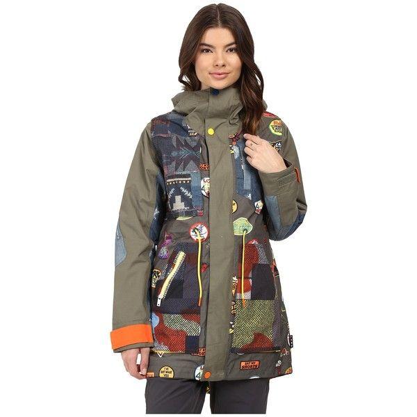 Burton Lamb Riff Parka (Patches) Women's Coat ($330) ❤ liked on ...