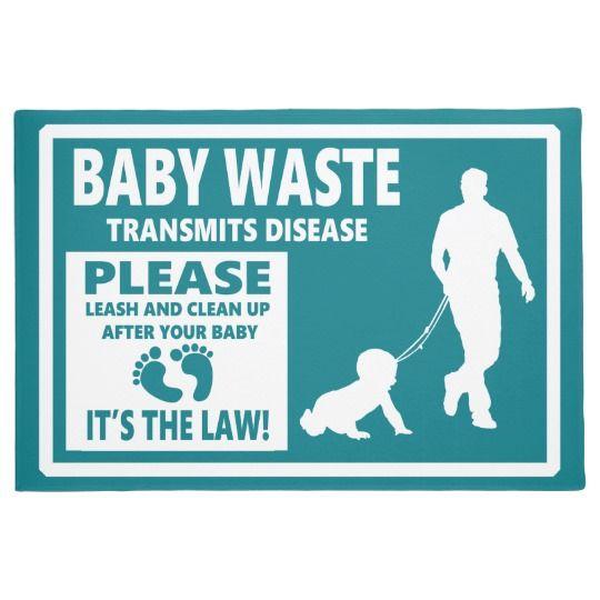 BABY WASTE - Courtesy Notice Doormat