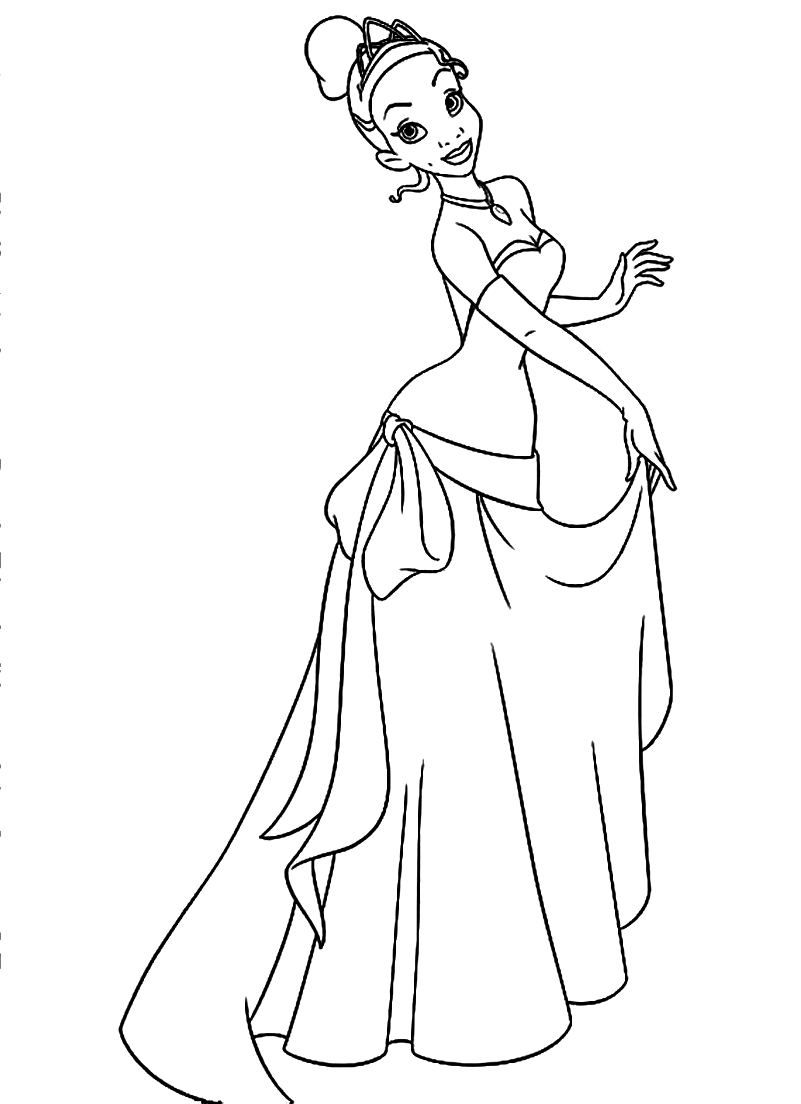 The Princess and the Frog Disney Coloring Page