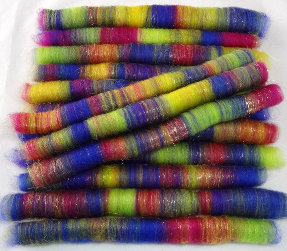 fiber roving boards | Spinning Fiber Hand Crafted ROLAGS 2.2 oz 031113 by KnittingKnorth