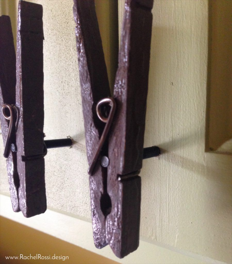 Diy Clothespin Cabinet Pulls Cabinet Pull Clothes Pins Cabinet
