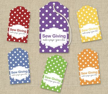 This ShanasPaw.com Tie-On Tag design has a label that appears to be stitched onto a polka dot background. It is sized to print as a tie-on tag on Avery and similar commercial stationery products, 8 tags per sheet. Your purchase includes 6 printable templates with your choice of colors and wording. After we customize your templates, we will email them to you ready to print.