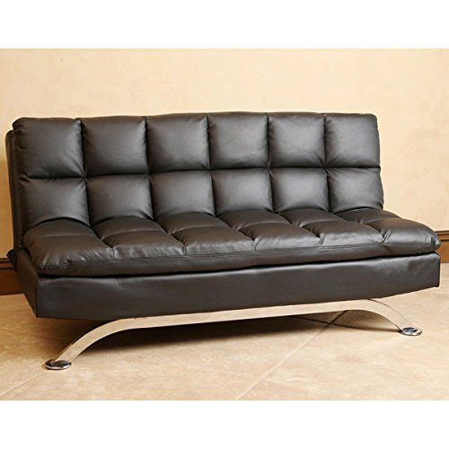 ABBYSON LIVING Vienna Black Leather Euro Lounger Sofa Learn more