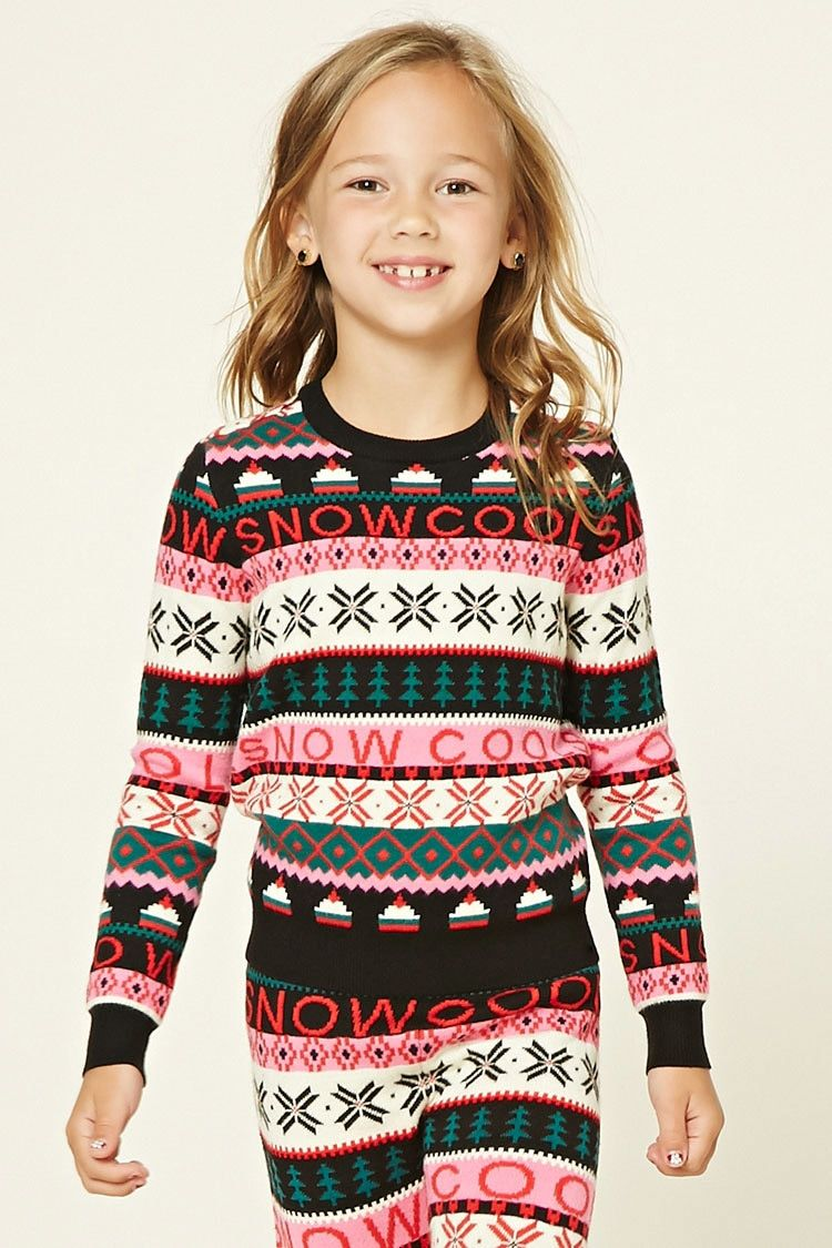 Girls Fair Isle Sweater (Kids) | morgan rose | Pinterest