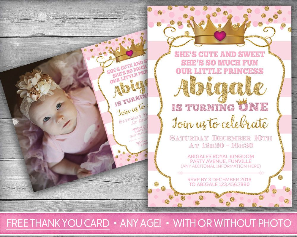 Princess Invitation | Little Princess First Birthday | Girl First ...