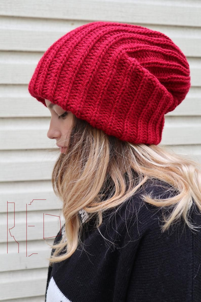 i-Smalls Ladies /& Girls Winter Chunky Oversized Slouch Beanie Hat