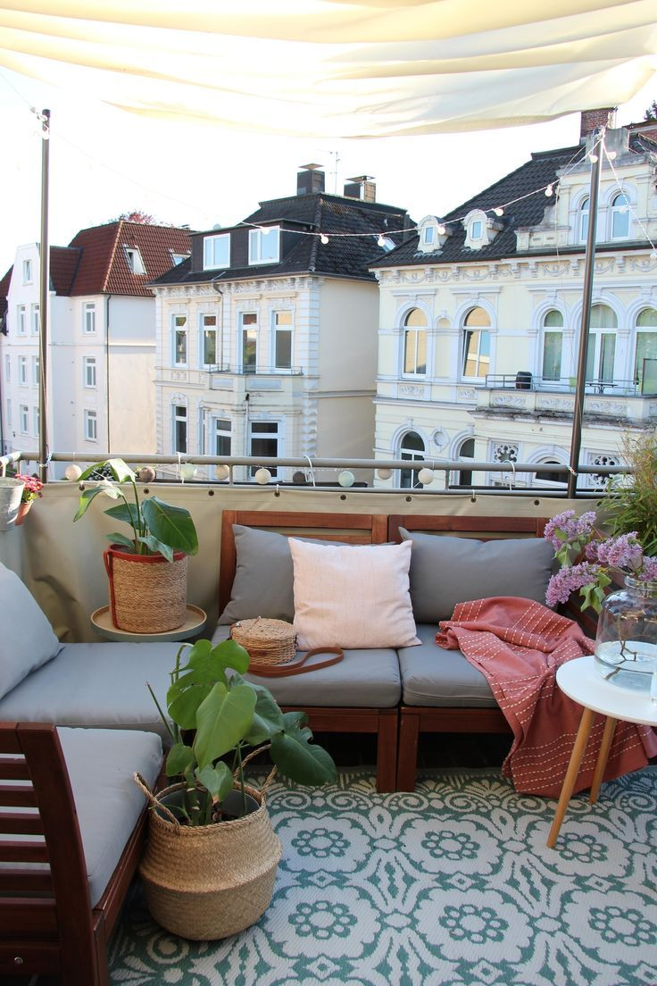 Balkon Ideen: So wird's gemütlich im zweiten Wohnzimmer #balconyideas