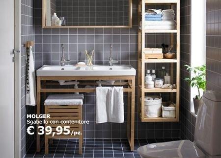 Ikea Bagno Mobili E Complementi In Legno Small Bathroom Storage