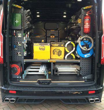 Van Racking Bott Smartvan Storage Solutions Bestelwagen Organisatie Vans Met Eigen Ontwerp Aanhangwagen
