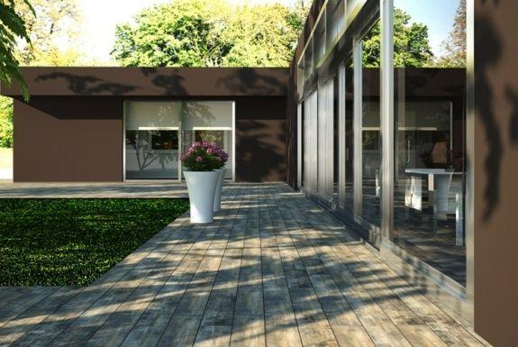 Carrelage extérieur imitation bois astuces et idées originales - Nettoyage Terrasse Carrelage Exterieur