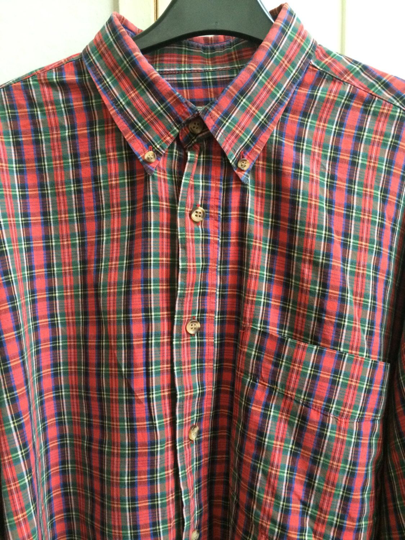 Plaid shirt for men, red shirt, button down shirt, checked shirt ...