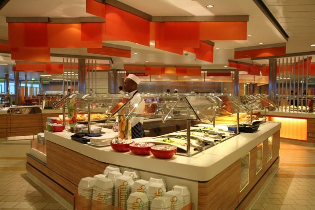 Celebrity Silhouette OceanView Cafe Dinner Buffet - YouTube