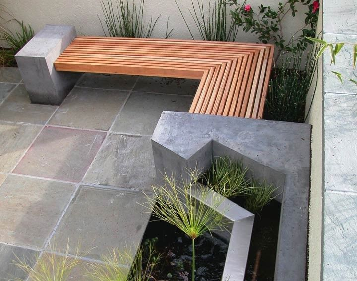 Outdoor Concrete and Wood Bench by DIYer - Outdoor Concrete And Wood Bench By DIYer Stuff I Like Pinterest