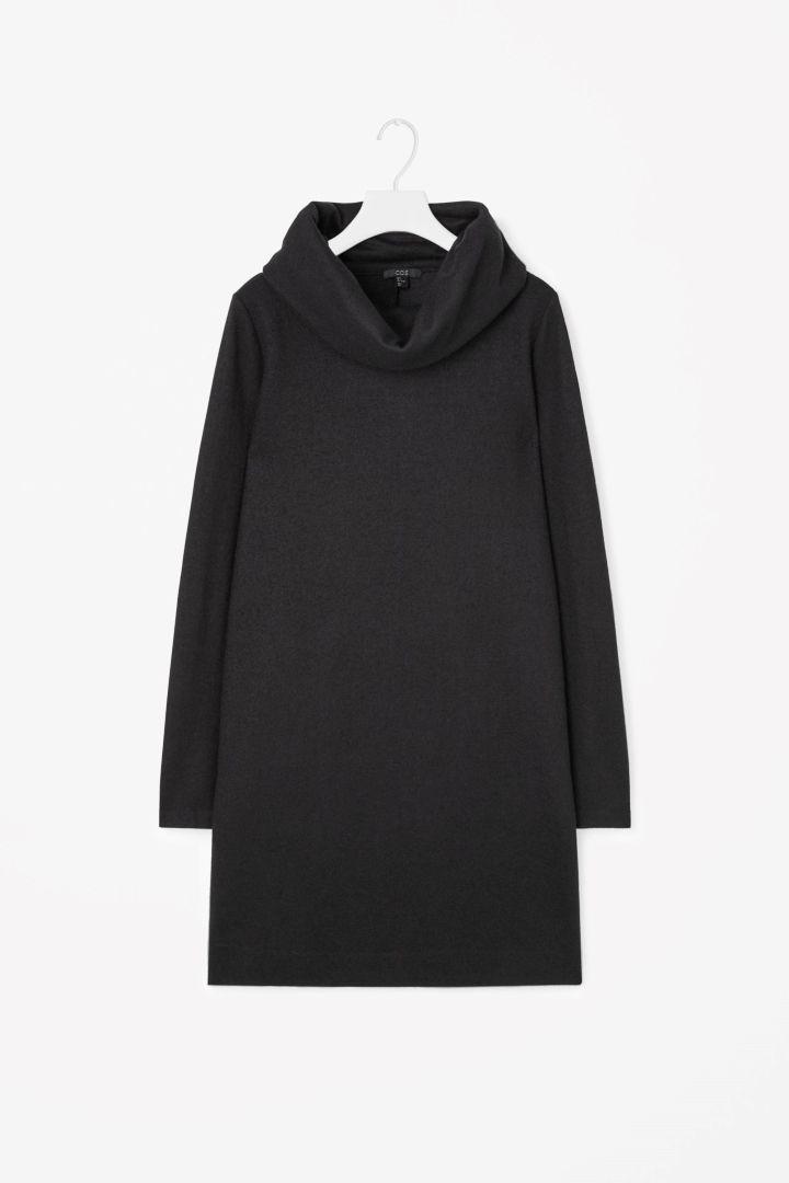 COS   Folded collar wool dress   $115