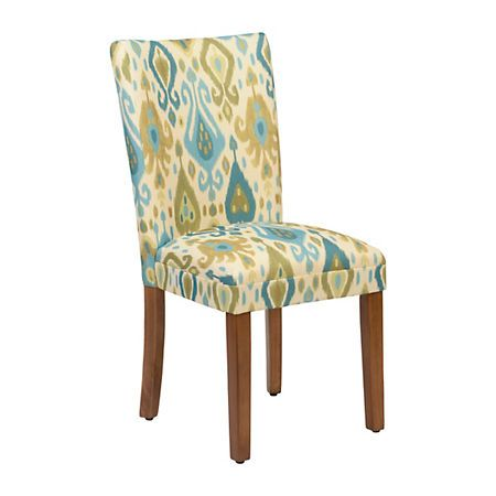 Blue And Green Ikat Parsons Chair | Kirklands
