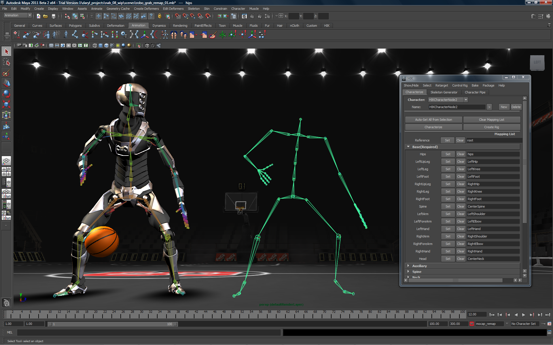 A screenshot of the interface used in a 3D modelling