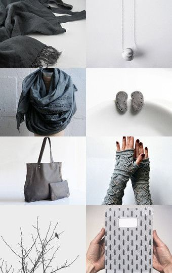 Lovely finds in gray  by Fernanda Ibarrola on Etsy--Pinned with TreasuryPin.com