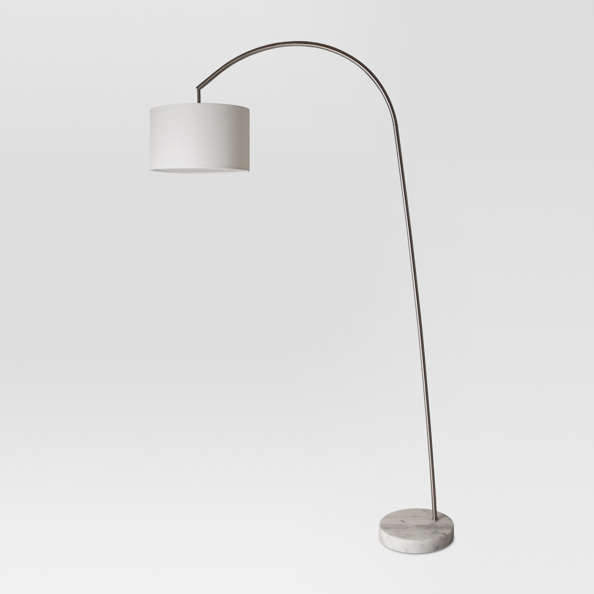 Project 62™ Avenal Shaded Arc with Marble Base Floor Lamp Nickel