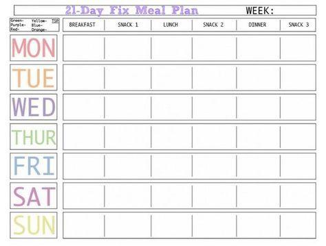 Pin By Lisa Zukeran On Mealplan Meal Planner Template 21 Day