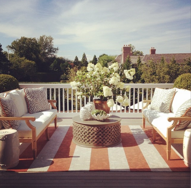 The view from the deck/master bedroom I designed for the 2014 Hampton Designer Showhouse - thanks to @traditionalhome