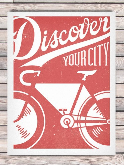Bicycle-themed poster by Phoenix Design Community for Pedal Craft ~love the graphics