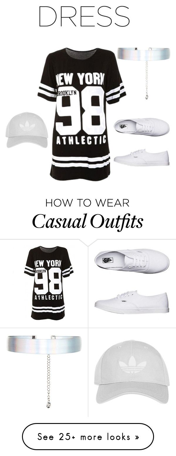 """""""Casual"""" by ivoryella1410 on Polyvore featuring Accessorize, Vans, Topshop, blackandwhite, casualoutfit, CasualChic and chokerdress"""