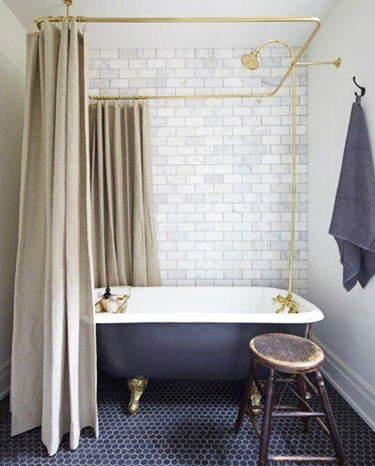 Kitchen Flooring Apartment Therapy: Trend Alert: Navy, Marble & Brass In The Kitchen & Bath
