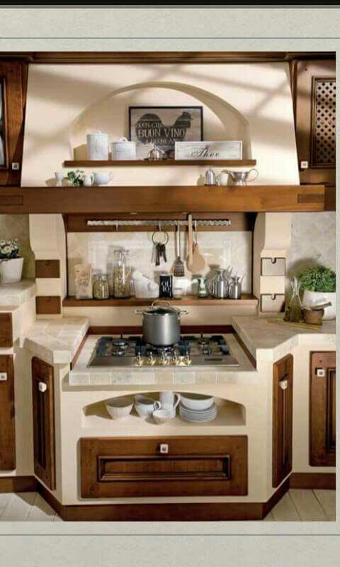 Piano Cottura Per Cucina In Muratura.Piano Cottura Arredo Interni Cucina Cucina In Muratura Cucine Country