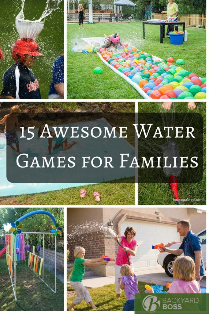 15 awesome water games for families kids pinterest. Black Bedroom Furniture Sets. Home Design Ideas