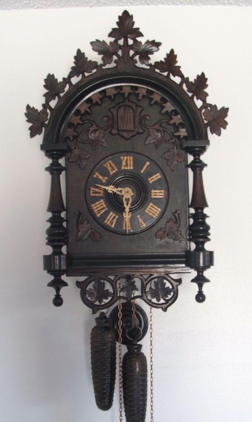 Antique Black Forest Cuckoo Clock Railroad In Rare Form Ebay Cuckoo Clock Clock Fancy Clock