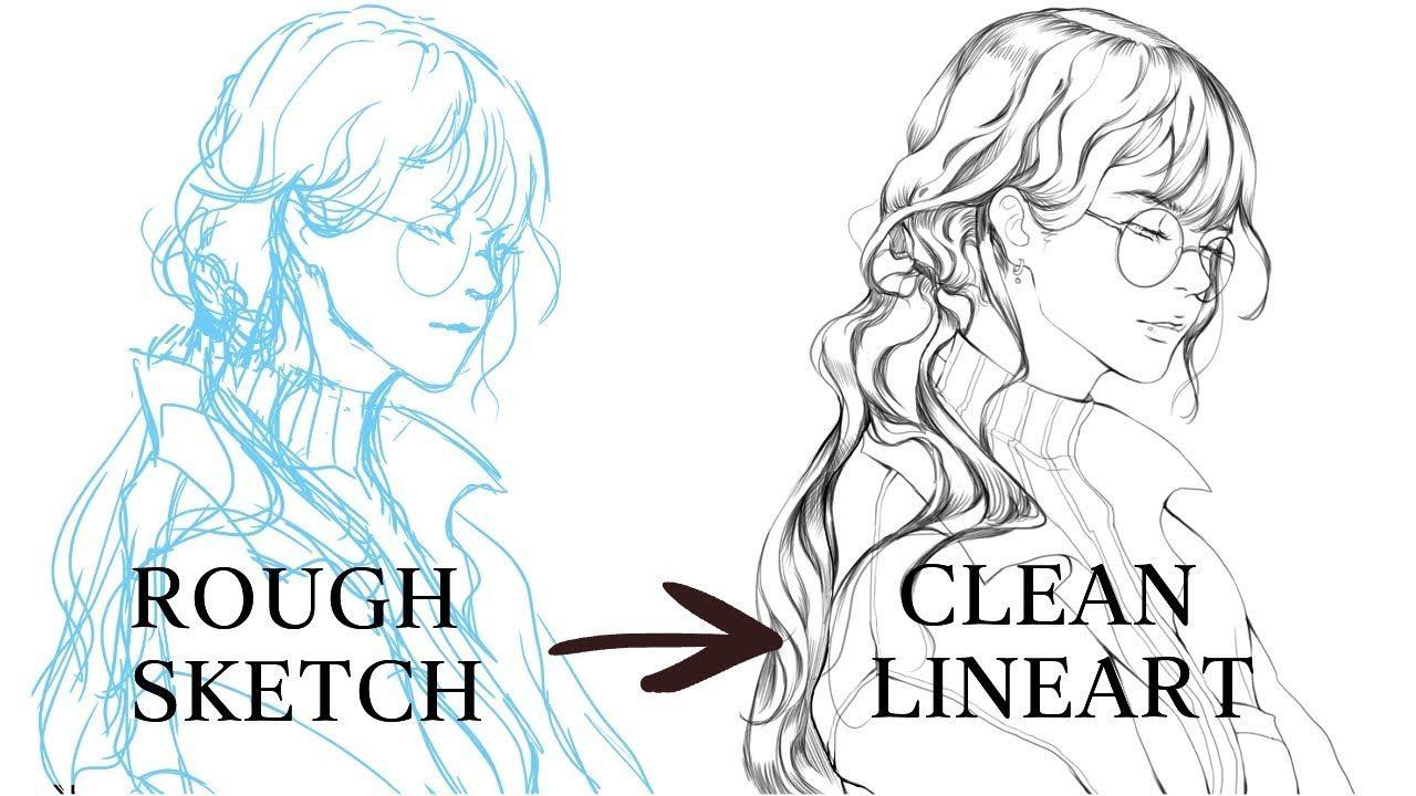 [MediBang] How I Lineart TUTORIAL Digital art beginner