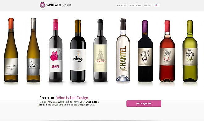 Wine Label Design - CoolHomepages Web Design Gallery | Idea ...