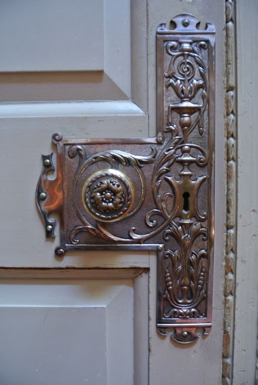 stunning vintage French metal door finger plate
