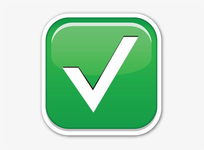 Green check mark emoji png emoji images emoji clipart