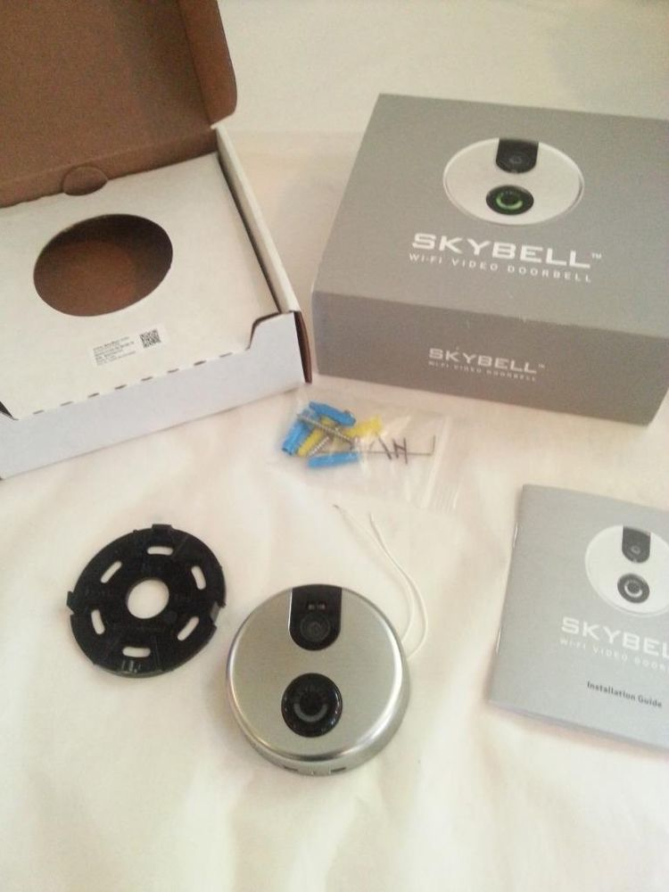 SkyBell Wi-Fi Video Doorbell Version 2.0 Silver w/ Night Vision Please Read #Skybell