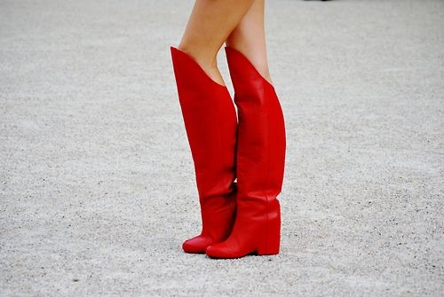 I reckon I recognise those pins... Elena Perminova in her Ulyana Sergeenko Haute Couture Fall/Winter 2012 boots! And I think this was in Paris. #testingmyfashionknowledgePinterest!