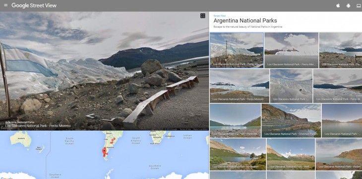 Ver Glaciares, Patagonia, Iguazú… los parques nacionales de Argentina en Google Street View