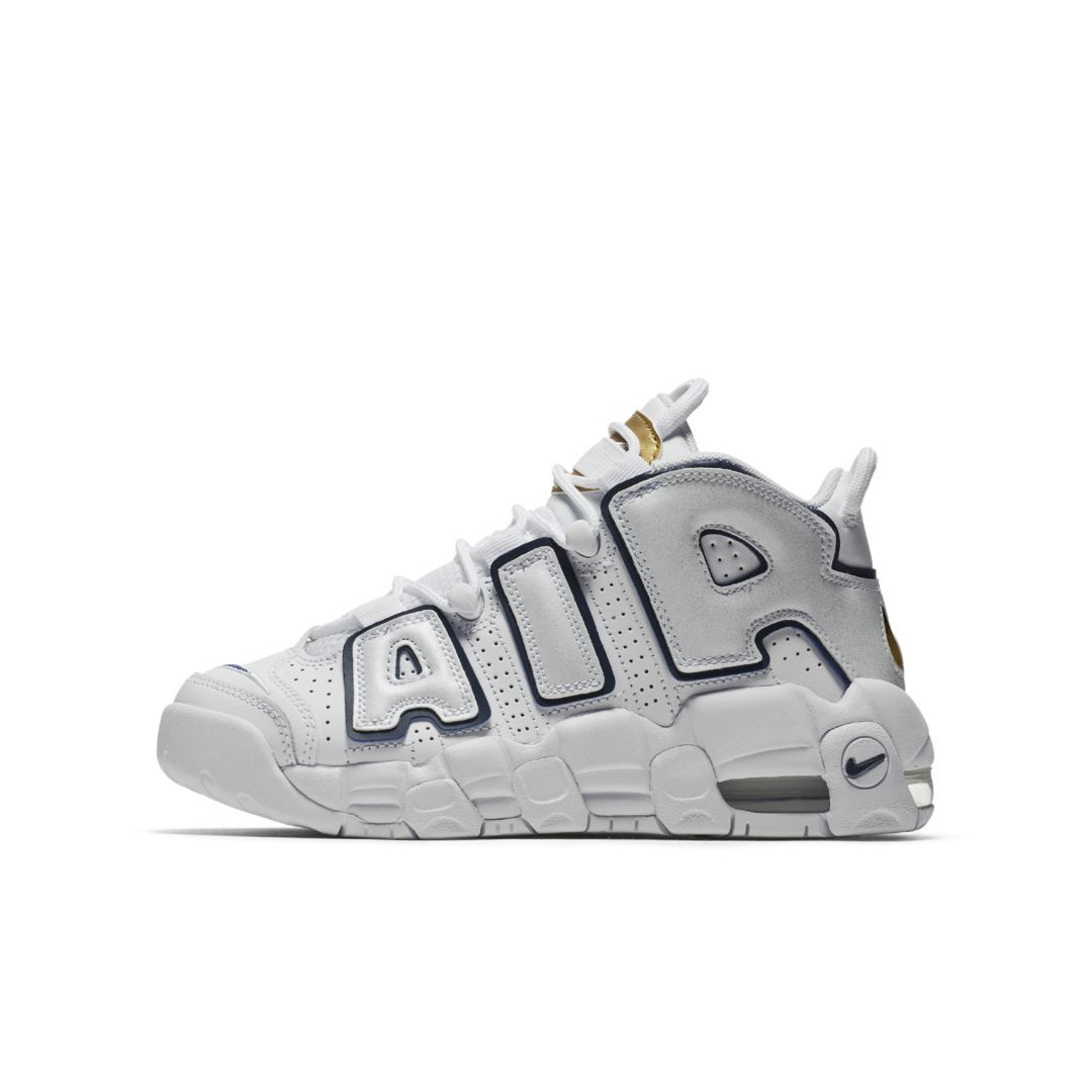 huge selection of dd813 cb5e3 Nike Air More Uptempo Big Kids  Shoe Size 3.5Y (White)