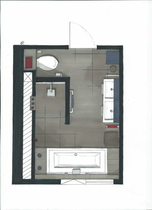 Google pinterest - Plan salle de bain douche italienne ...