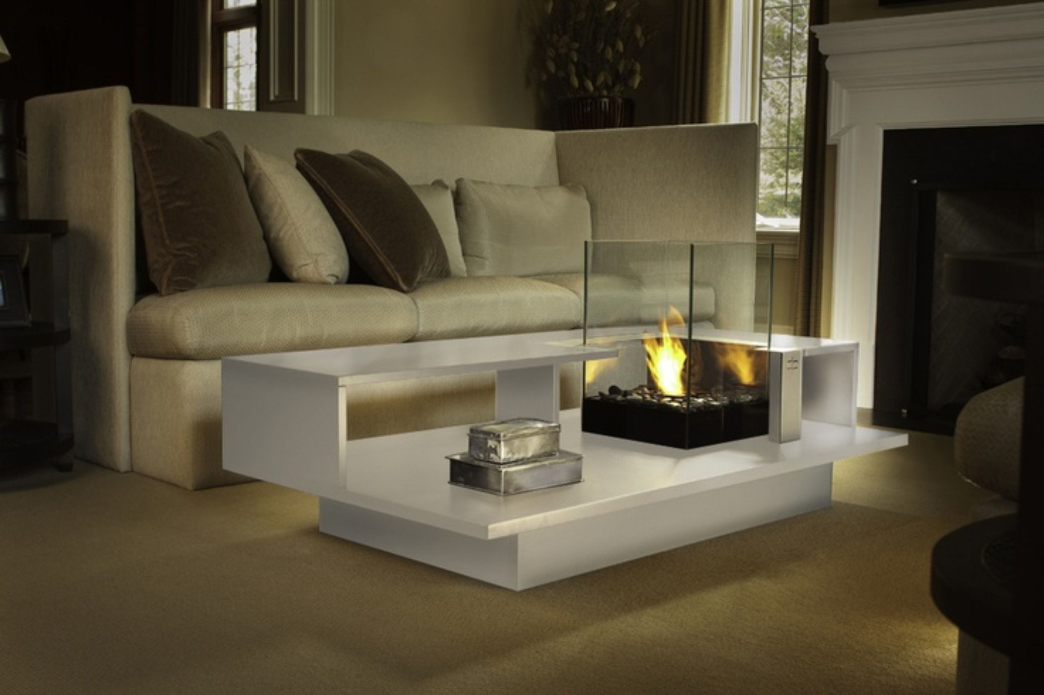 Building An Indoor Fire Pit Living Room Coffee Table Indoor