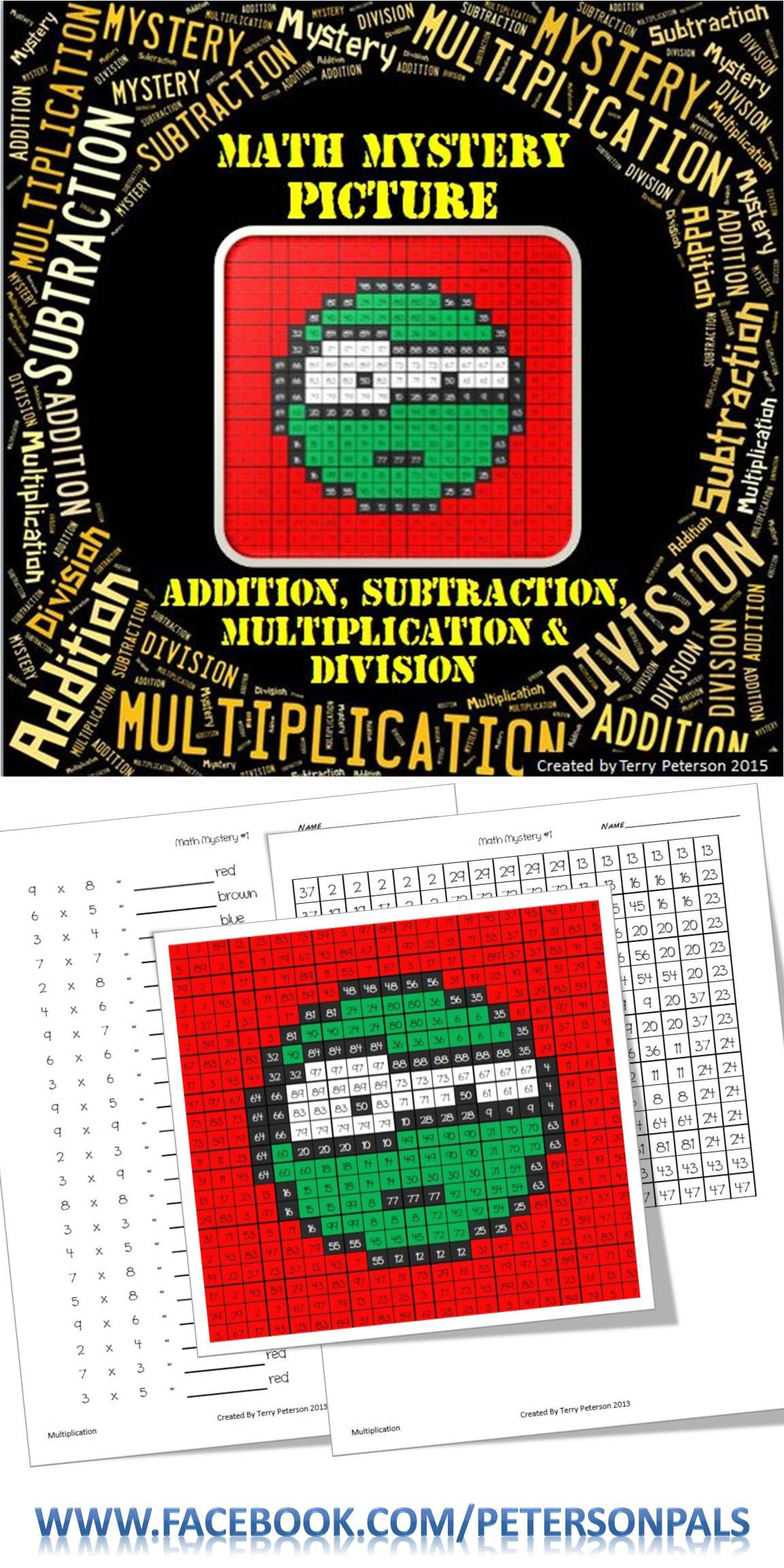 Math Mystery Emoji 5 Picture Addition Subtraction