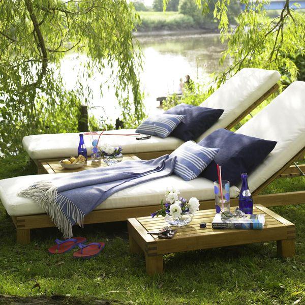 Hersteller Sonnenliegen Auflagen Jan Kurtz Blaue Kissen Ikea