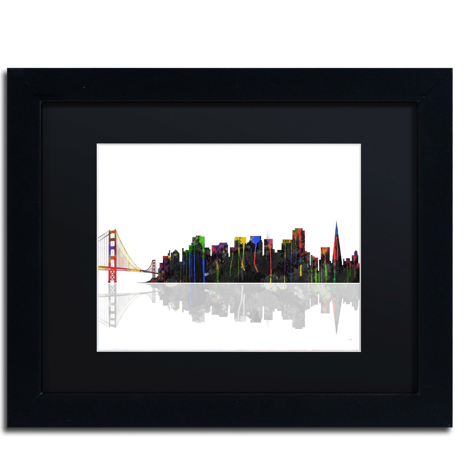 San Francisco California Skyline by Marlene Watson Framed Graphic ...