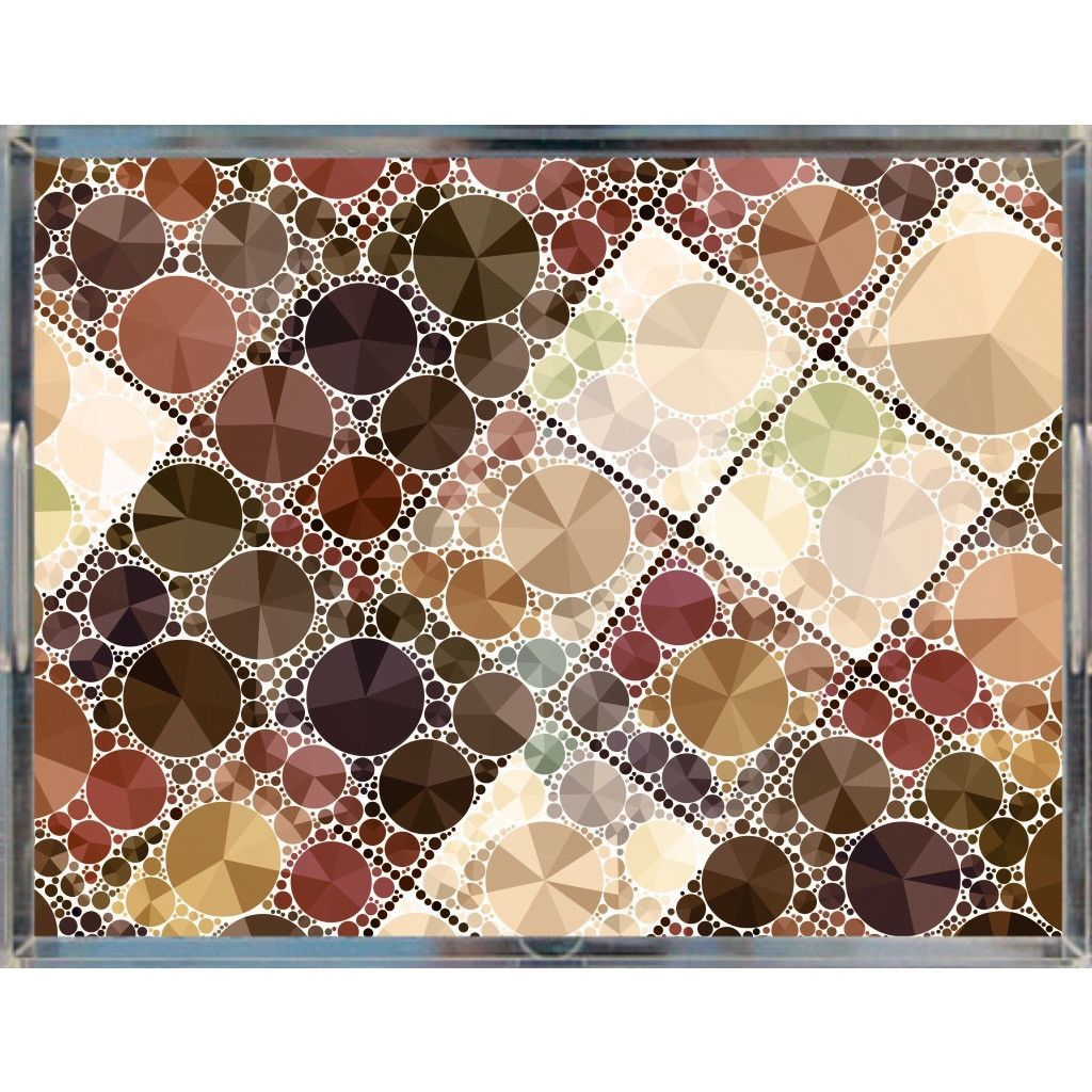 Brown Bling Pattern Acrylic Trays