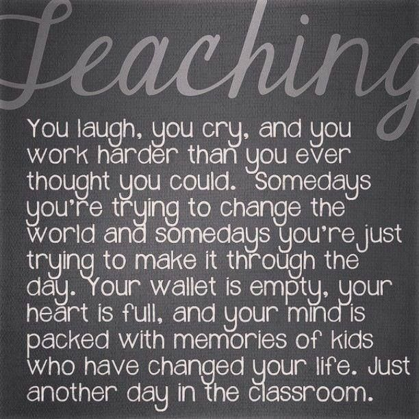 It's not all about teaching from a book or giving out homework ...