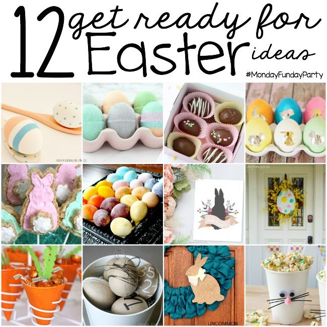 Getting ready for easter monday funday weekly party diy 12 easter craft and recipe ideas negle Choice Image